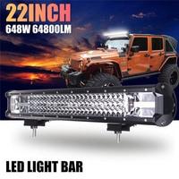 22 Inch 648W LED Work Light Bar Flood Spot Combo Driving Lamp For Car Truck Offroad VS998