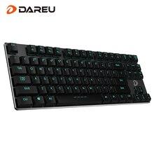 Dareu EK820 87Key Bluetooth LED Retroiluminado Gamer Ergonómico Gaming Teclado Mecánico Con Cable USB Para El Ordenador portátil Del Teléfono de la Tableta