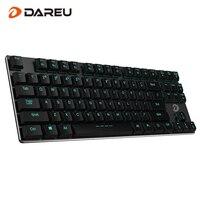 Dareu EK820 87Key Bluetooth LED Backlit Ergonomic Mechanical Gaming Keyboard Gamer Wired USB For Laptop Computer