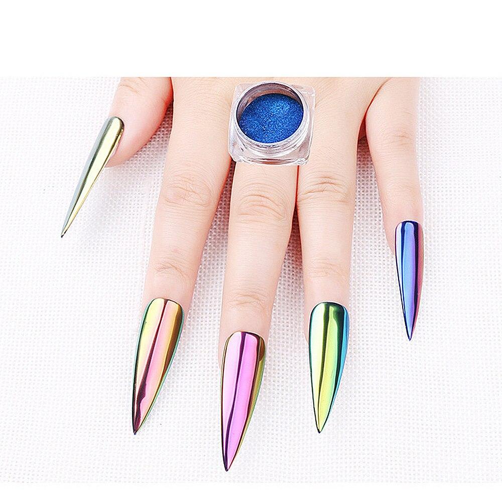 NEW nail art glitter powder Chrome Nail Polish Powder Pigment ...