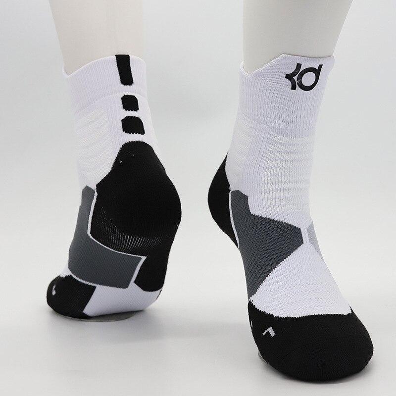 Adult Size Mid Calf Crew Socks Kevin Durant Big Basketball Player Star Logo White Brand Sport Socks Professional Freeshipping