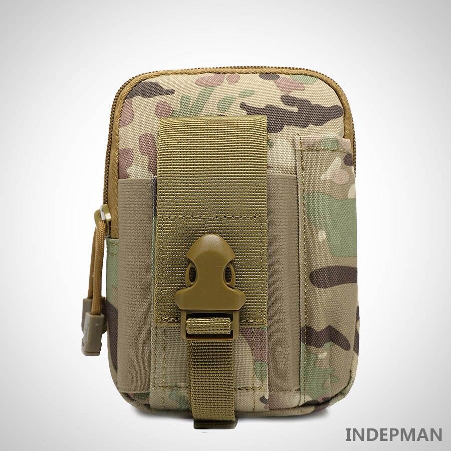 INDEPMAN āra sporta jostas soma Molle Tactical Cellphone jostu somas vīriešiem vidukļa somas ūdensdrošiem 1000D Oxford militārajiem mazajiem iepakojumiem