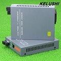 KELUSHI 1 Par HTB-GS-03 Gigabit Enternet Porta Conversor de Fibra Conversor de Mídia Único Modo de SC 20 KM 1000 Mbps fonte de alimentação