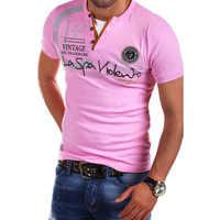 ZOGAA Tops Tees Short Sleeve T-shirt Men's Brand Fashion Slim Fit Sexy V Neck T Shirt Men 2018 New Mens Summer Hot Sale