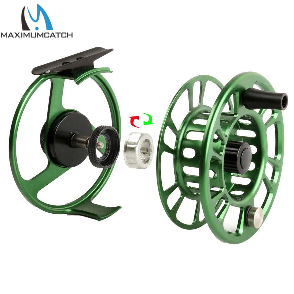 Maximumcatch NZ 3-8wt Fly Fishing Reel CNC Machine Cut 6061 T6 Aluminum Large Arbor Aluminum Fly Reel maximumcatch 06n 2 3 4 5 6 7 8wt fly fishing reel cnc machine cut large arbor aluminum silver color fly reel page 8