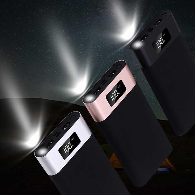 20000 мАч Dual USB power bank для iPhone 7 8 Plus Xiaomi samsung Bateria зарядное устройство светодиодный дисплей Poverbank универсальный внешний аккумулятор