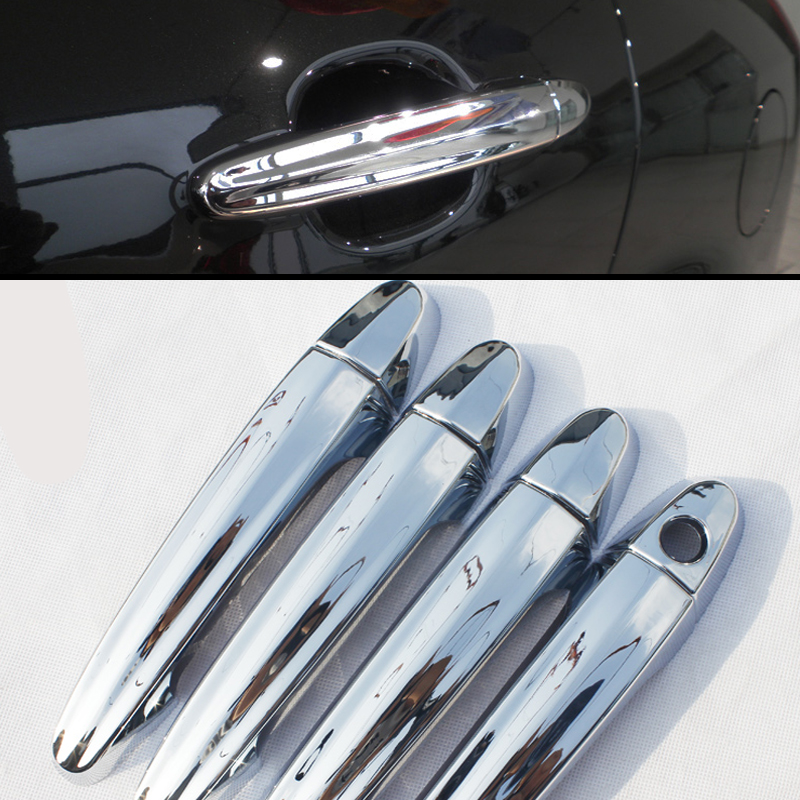 abs chrome trim door handle covers auto car accessories for ssangyong korando 2011 2012 2013. Black Bedroom Furniture Sets. Home Design Ideas