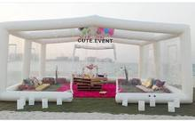 customized Fashionable Clear Inflatable Lawn Party Tent with free Pump