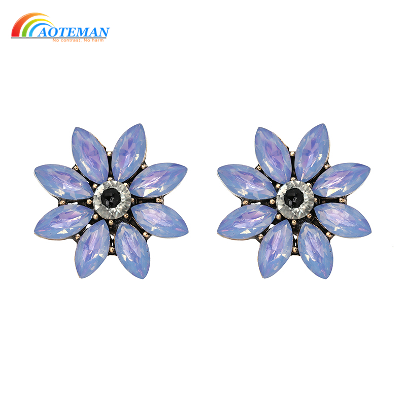 2096b98bb13 Flower Bomb Stud Earrings For Women MIDNIGHT SHIMMER Chic Statement ...