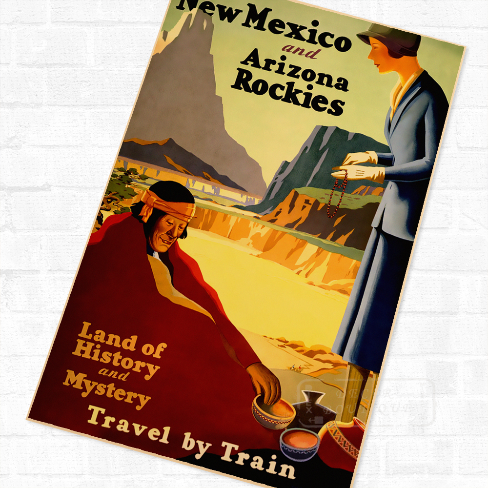 New Mexico Arizona Rockies Tour Landscape Travel Poster Vintage ...