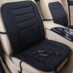 Universal 12V Dipanaskan Kursi Pemanas Lembut Penebalan Kursi Mobil Bantal Hangat Kursi Mobil Penutup dengan Suhu Controller Hitam