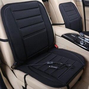 Image 1 - Universel 12V chauffage de siège chauffant doux épaississement siège de voiture coussin plus chaud housse de siège de voiture avec régulateur de température noir