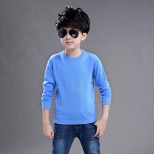 Autumn Winter New Children Boys Sweater Kids teenager pullover knitted full sleeve O-Neck Solid Color 4 5 6 7 8 9 10 14T