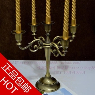 Fine bronze, five candlesticks, antique Candlestick, European candle stand, hotel wedding articles, home decorations