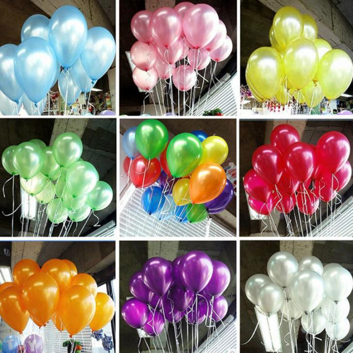 100pcs/lot 10inch 1.3g/pcs Latex Balloon Pearl Celebration Party Wedding Birthda