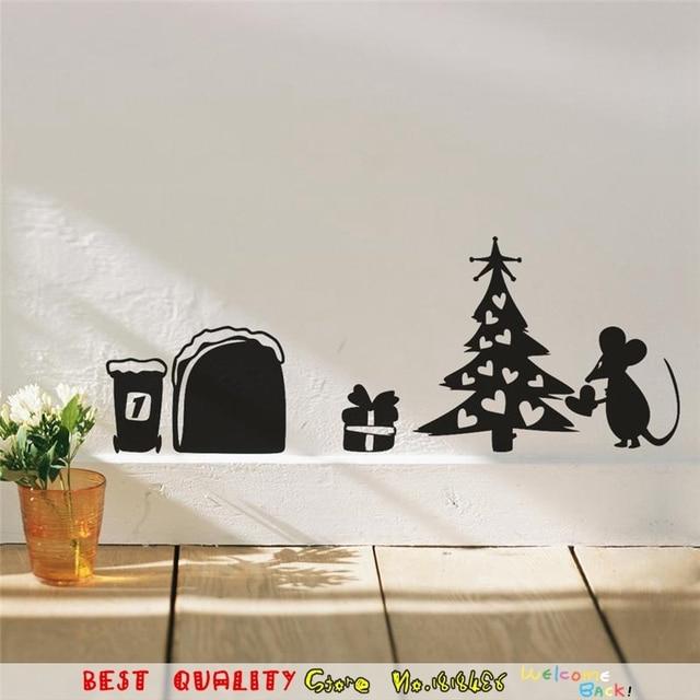 Maus Weihnachtsbaum Henna Herz Wandaufkleber Kinderzimmer Dekoration  Wasserdicht Abnehmbare Wand Papier Handwerk Vinyl Festival Wandkunst
