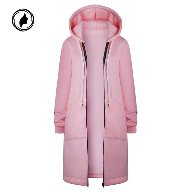 2018 Autumn Winter Hoodies Women Hooded Jacket Fashion Casual Long Zipper Hoodies Sweatshirt Vintage Plus Size Outwear Coat 5XL