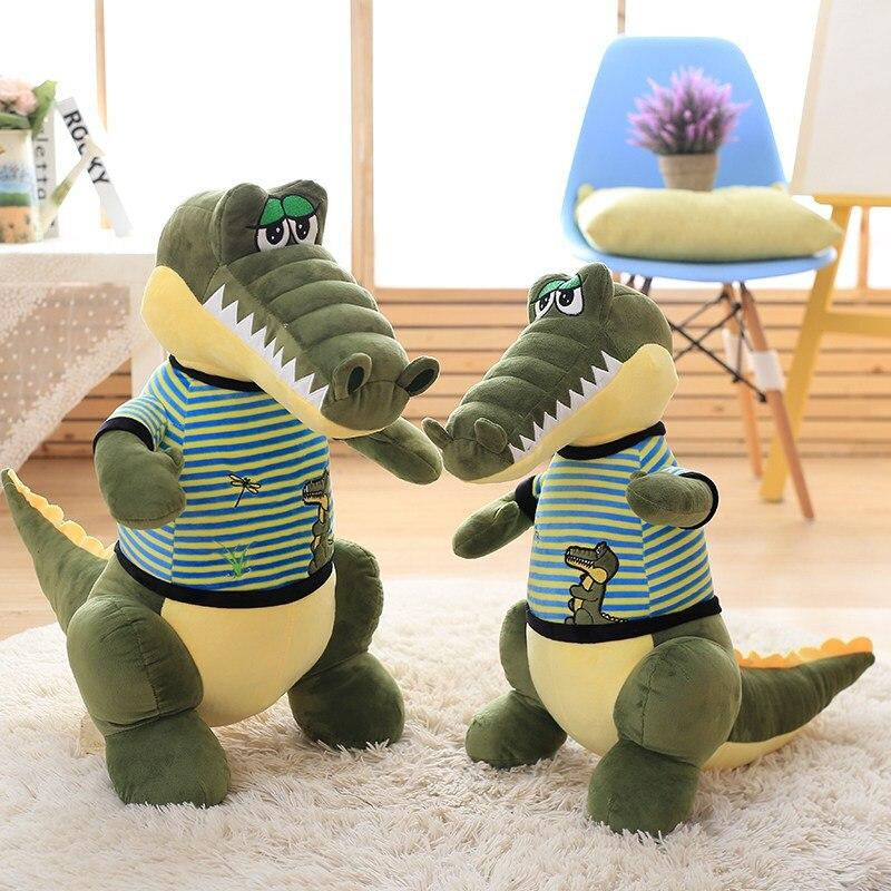 1pc 40/60cm Alligator toy cartoon crocodile plush stuffed toys real life dressed alligator pillows Fine Workmanship Xmas present1pc 40/60cm Alligator toy cartoon crocodile plush stuffed toys real life dressed alligator pillows Fine Workmanship Xmas present