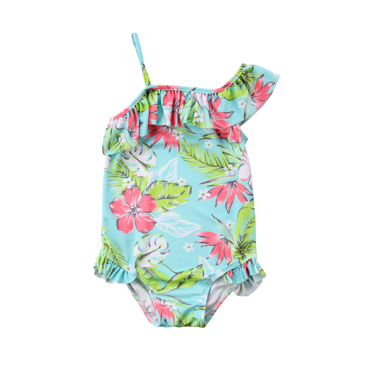 New 2018 Summer Toddler Kids Baby Girls One Piece Floral Off ...