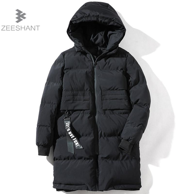 ZEESHANT New Clothing Jackets Business Long Thick Winter Coat Men Solid Parka Fashion Overcoat Outerwear M-5XL Campera Hombre zeeshant new clothing jackets business long thick winter coat men solid parka fashion overcoat outerwear in men s parkas xxxl