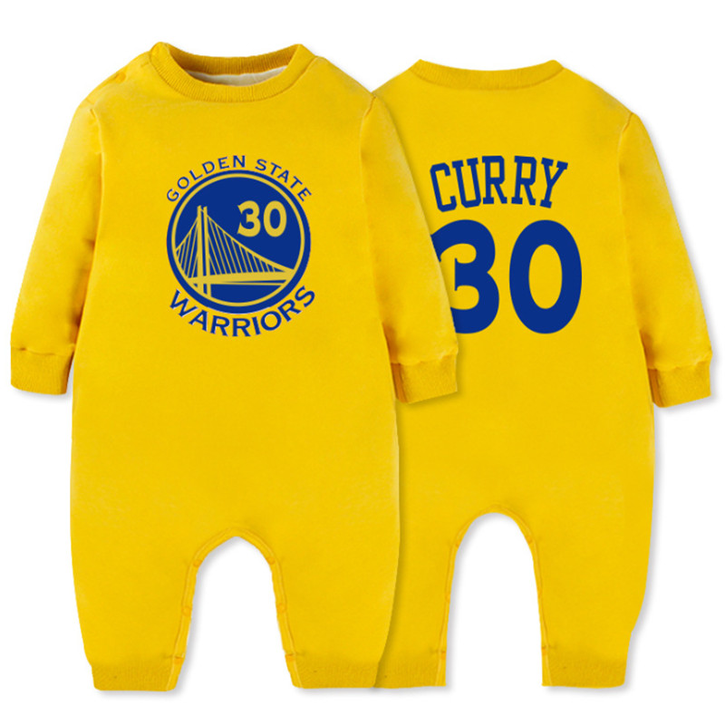bbae5d2d7d26c7 2018 Baby Winter Clothes Plus Velvet Basketball Long Sleeve Romper Baby  Sport Clothes Jumpsuit Short Baby 0 24month Clothing-in Rompers from Mother    Kids ...