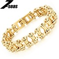 Punk Men Biker Bicycle Motorcycle Chain Bracelets Fashion Gold/Silver Plated 316L Stainless Steel Men Jewelry Best Gift,JM781