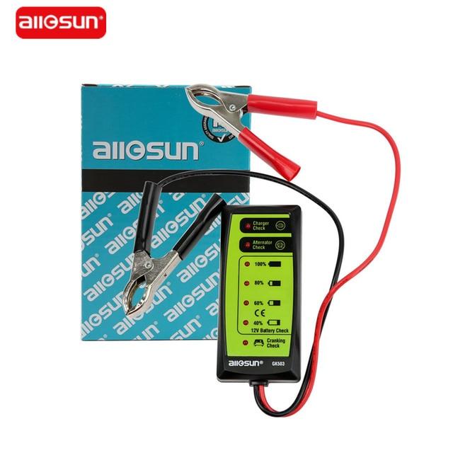 All Sun GK503 12V 6 LED Display Automotive Vehicle Battery Tester Charger Dinagnostic Analyzer Cranking Check GK503