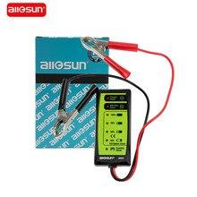 All sun testador de bateria automotiva, testador de bateria do veículo com display de led 6 v, analisador de dinagnóstico, verificação de manivela gk503