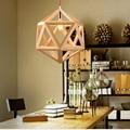 Деревянные подвесные светильники в скандинавском стиле  фонарь-птичья клетка  Новый китайский стиль  простая Подвесная лампа для ресторана