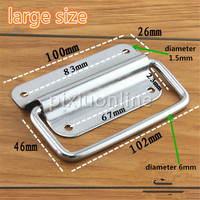DS330b Large Size Stainless Steel Door Handle Diameter 6mm Metal Wooden Cabinet Pull Handler Home Decoration Furnishing