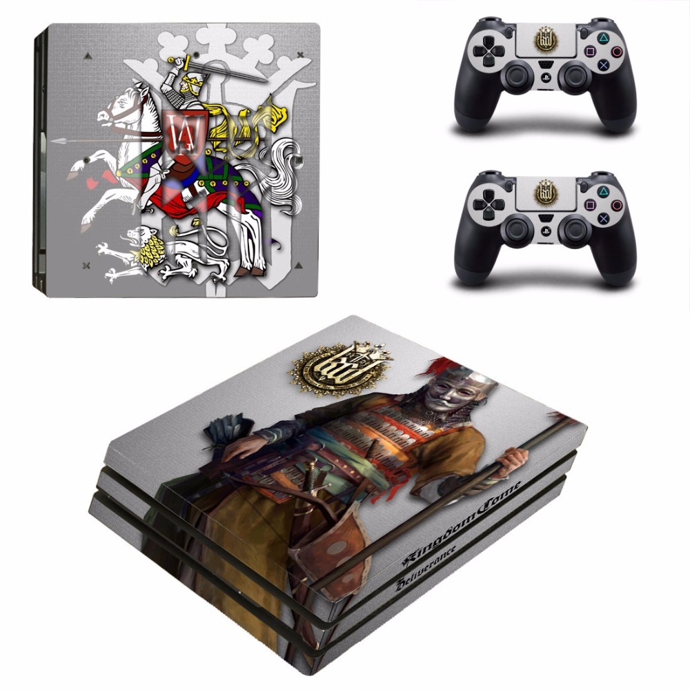 Game Kingdom Come Deliverance PS4 Pro Skin Sticker Decal For Sony PS4 PlayStation 4 Console and 2 Controllers PS4 Pro Skins