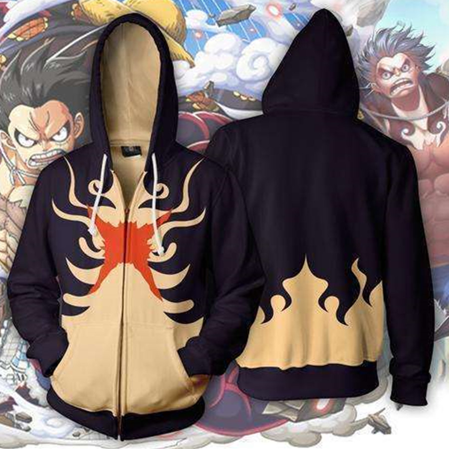 Luffy Anime Hoodie Cosplay Costume Sweatshirts Jackets Coats Men And Women New Professional Design One Piece Ape-man Monkey D Anime Costumes