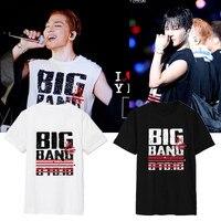 Kpop ימני zhi-long GD k-pop BIGBANG חולצת טריקו עם שרוולים קצרים חולצת טי נקבה בגדי קיץ פופ k תחרה כותנה צמרות חולצה ארוכה tees