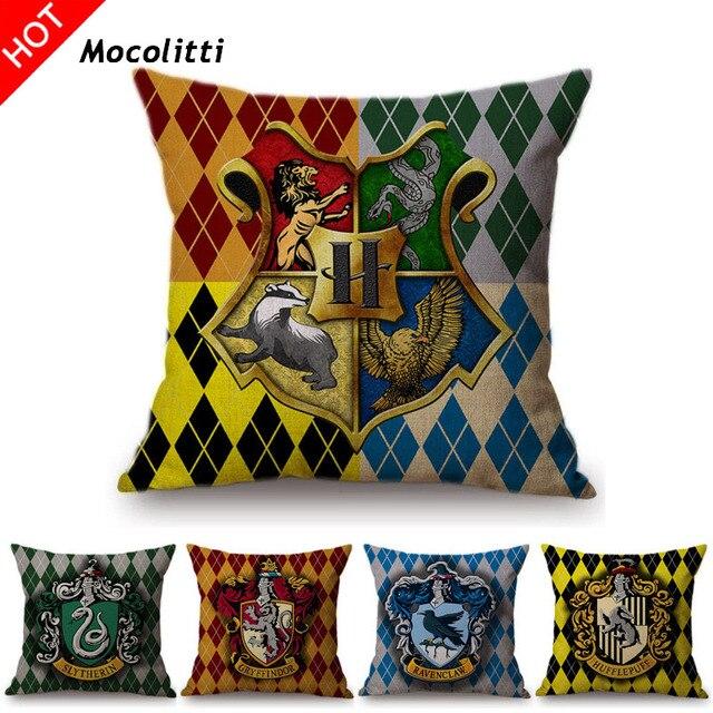 Harry Potter Style Divano Decorativo Coperture per Cuscini Geometrico Plaid Cont