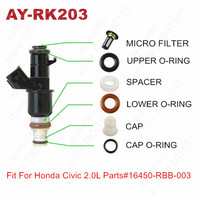 20Sets For Honda Civic Acura RSX CXS 2.0L Fuel Injector Repair Kits For 16450 RBB 003 Fuel Injector Micro Filter Caps (AY RK203)