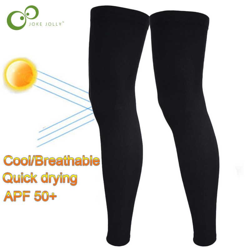 Spor Silikon Antiskid Uzun Diz Bacak Isıtıcıları Destek Sıkıştırma Brace ped koruyucu Spor Basketbol Bacak Sleeve1Pair GYH