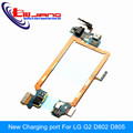 Original New Dock USB Charging port with Headphone Jack For LG G2 D802 D802TA D805 with Mic Flex Cable Free Shipping