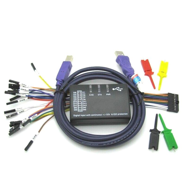 Saleae USB logique 100 MHz 16Ch analyseur logique pour bras FPGA E4-004 - 2