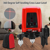 AK435 1V1H Red 2 Line 1 Point 360 Degree Self Leveling Cross Laser Level Rotary Horizontal Vertical Red Laser Levels