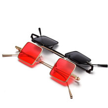 Small Square Glasses Men Women Sunglasses Vintage Red Pink Color Punk Eyewear Womens