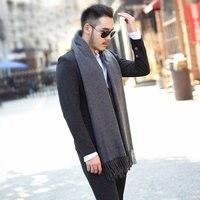 Winter Warm Male Tassels Scarf Cashmere Scarves Men Fashion Cachecol Wool Soft Shawl Wraps Luxury Brand