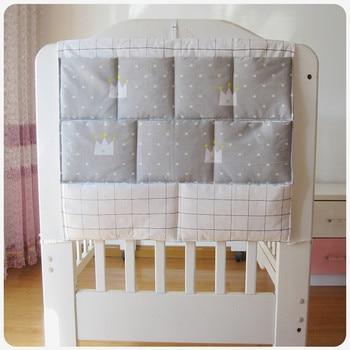 Bed Hanging Storage Bag Baby Cot Brand Cotton Crib Organizer 50*60cm Toy Diaper Pocket for Bedding Set - discount item  35% OFF Bedding