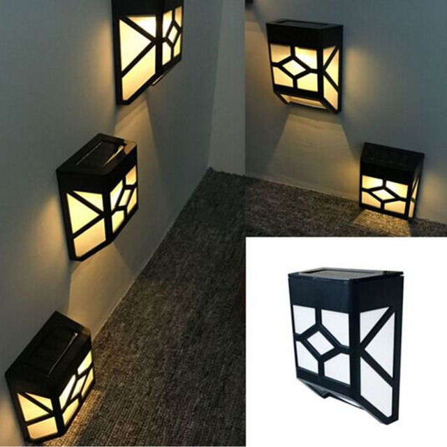 Warm white led solar lamp wall light outdoor waterproof garden fence warm white led solar lamp wall light outdoor waterproof garden fence nightlights home yards street path aloadofball Gallery