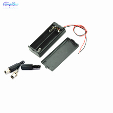 50Pcs 2xAAA Battery Case Holder Socket Wire Junction Boxes With Wires, Switch&Cover,  5.5/2.1 DC Plug