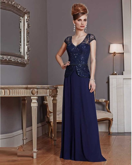 8a55a22519f Gorgeous Brides Mother Dresses For Weddings Navy Blue Mother Of The Bride  Dresses Godmother Dress Vestido