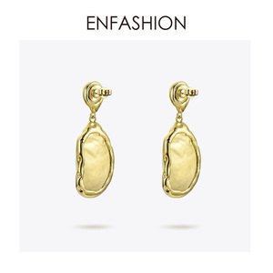 Image 4 - Enfashion בציר גדול הקונכייה Drop עגילים לנשים זהב צבע טבעי אמא של פרל עגילי תכשיטים Oorbellen E191024