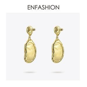 Image 4 - Enfashionヴィンテージ大きな巻き貝女性ゴールドカラーナチュラル母の真珠のイヤリングファッションジュエリーoorbellen E191024