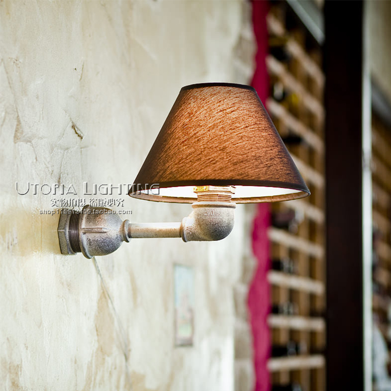 Loft Style Iron Water Pipe Lamp Industrial Vintage LED Wall Light Fixtures For Home Antique Edison Wall Sconce Indoor Lighting nordic loft style industrial water pipe lamp vintage wall light for home antique bedside edison wall sconce indoor lighting