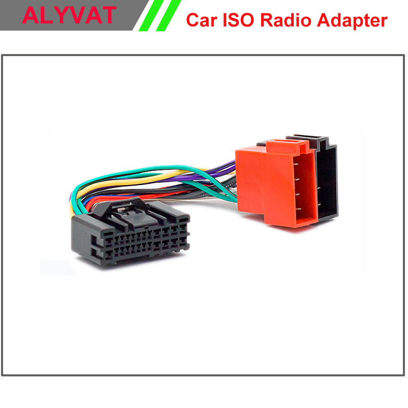 car iso stereo adapter connector for hyundai 2005 onwards