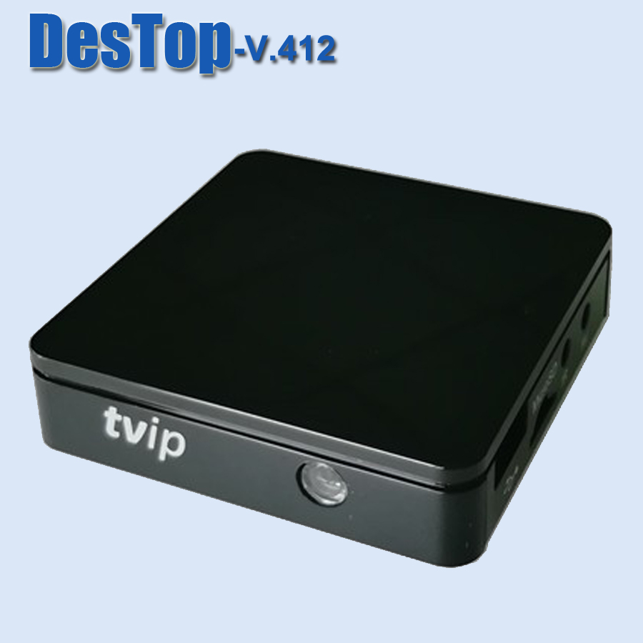 Real Fast mini tvip V412 tv box android tv box 4 4 or linux amlogic s805